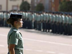 El suelo de Guardia Civil recien salido de la Academia