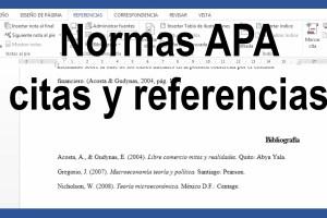 Cómo referenciar en normas APA
