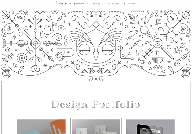 Portfolio website: Fixate