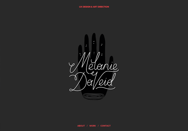 Portfolio website: Melanie Daveid
