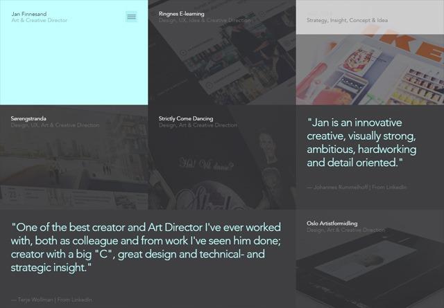 Portfolio website: Jan Finnesand