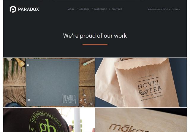 Portfolio website: Paradox Design Studio