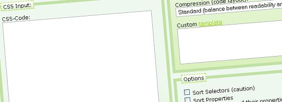 Bersihkan CSS - tangkapan layar.