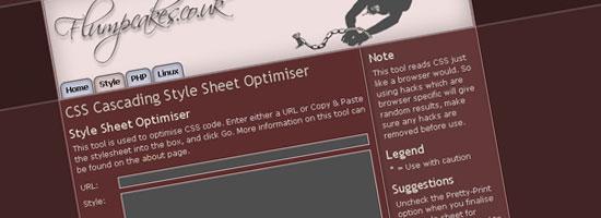 flumpCakes Style Sheet Optimizer - tangkapan layar.