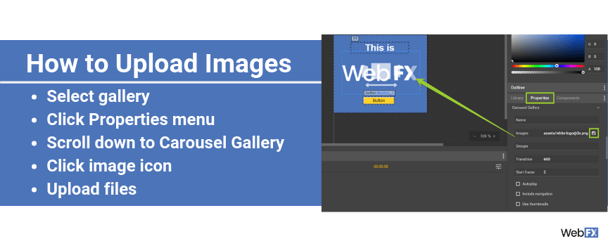 A screenshot of how to upload images in Google's ad builder