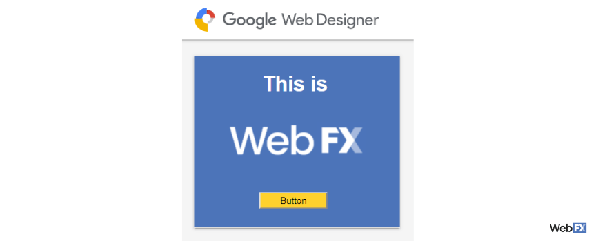 A preview of an ad created with Google Web Designer