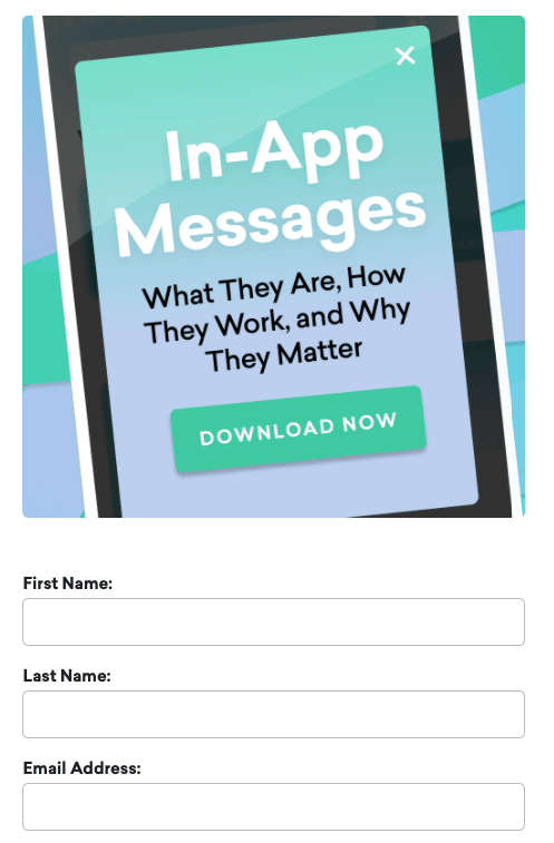 Gated content for content on in-app messages