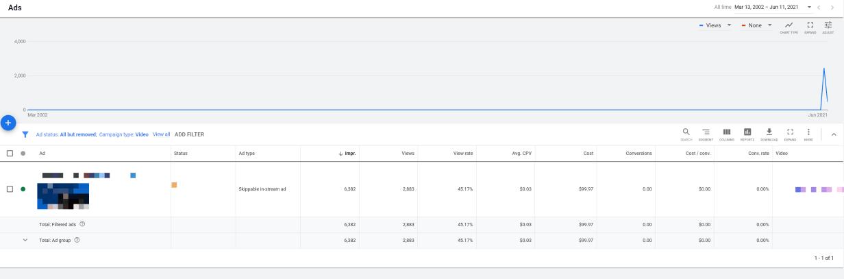 Google Ads video campaign metrics
