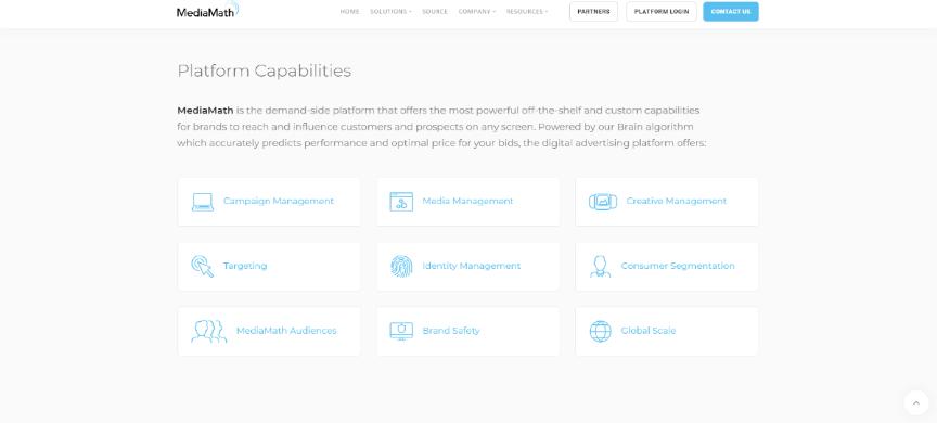 MediaMath website screenshot