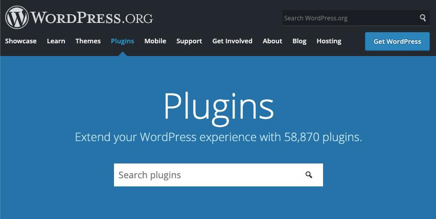 Homepage for WordPress plugins