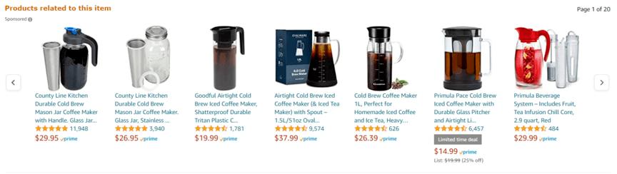 Amazon product targeting example