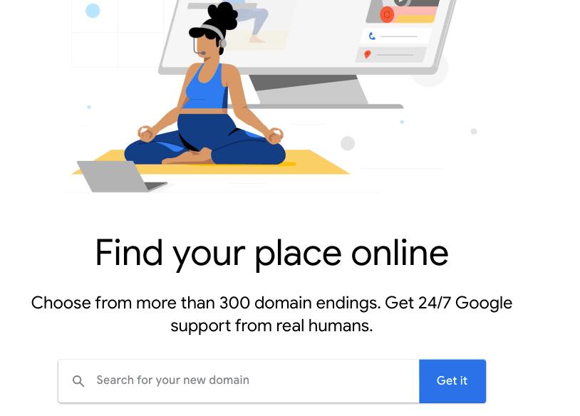 Google domain registration website