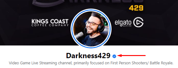 Verified profile with a checkmark