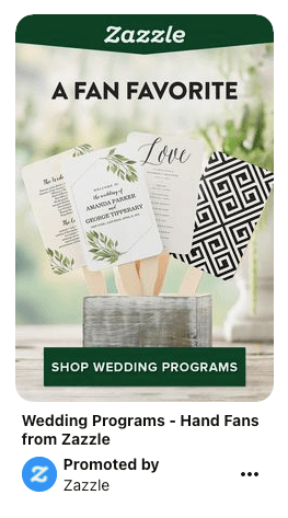 Promoted pin for cards on Pinterest