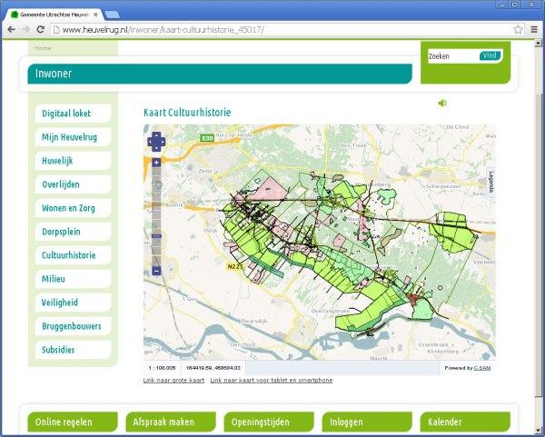 kaart op webpagina