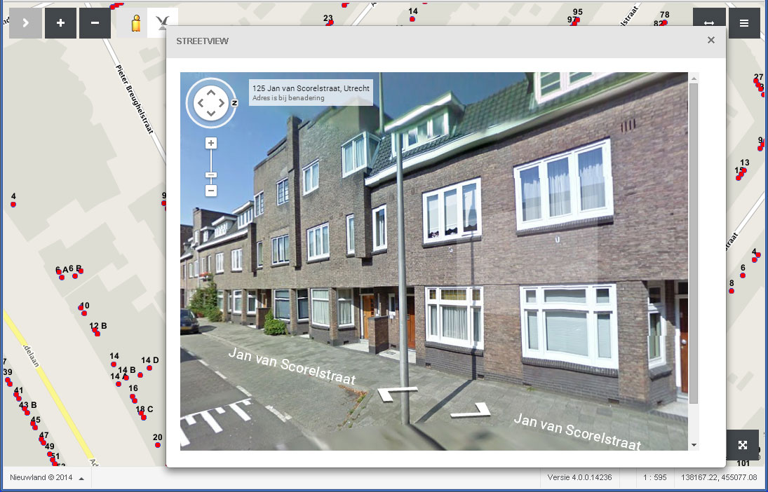 streetview in WebGIS Publisher