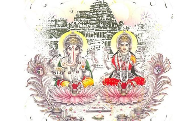 Ganesh Lakshmi Diwali Wallpaper