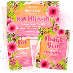 Pink-Flowers-Watercolor BatMitzvah-A7H-V2-MU900