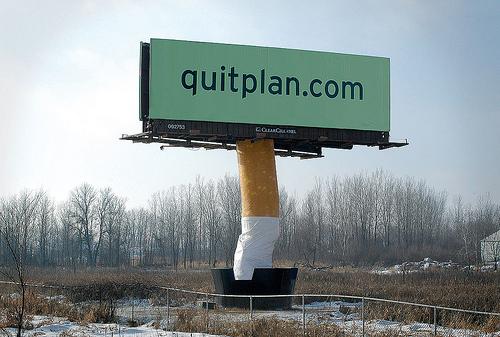 stop smoking billboard