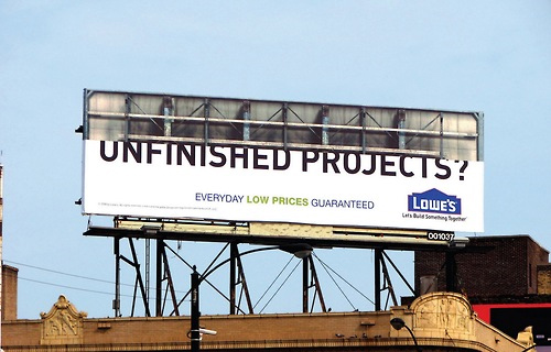 unfinished billboard