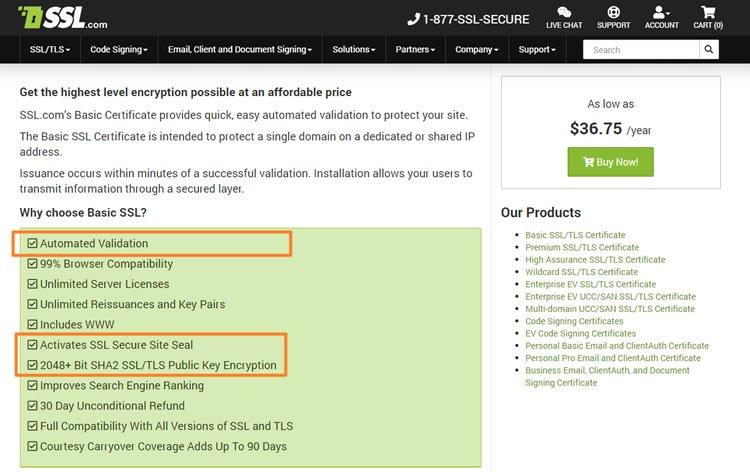 Cheap SSL deals - Demo