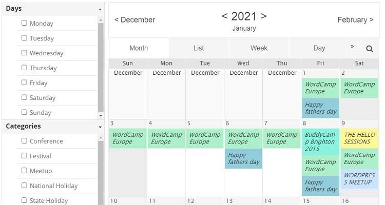Event Calendar WD - simply WordPress calendar plugin