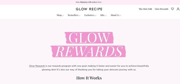 Glow Recipe's Glow Rewards