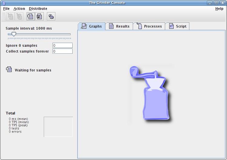Grinder load testing tool