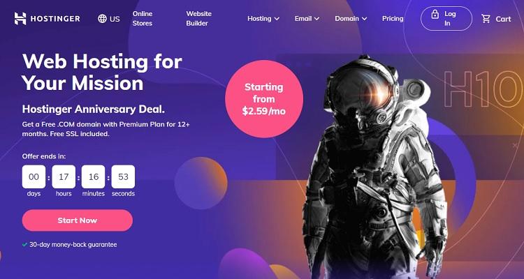 hostinger homepage 21