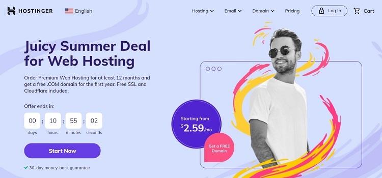 Hostinger for non profit websites