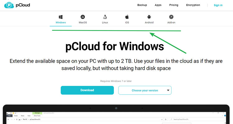 pcloud support device