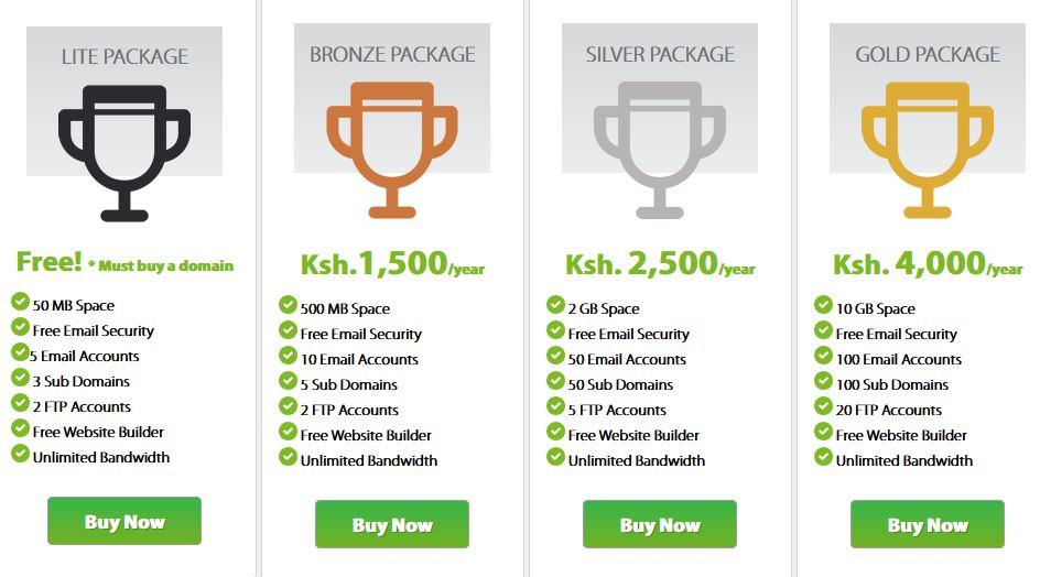safaricom free hosting