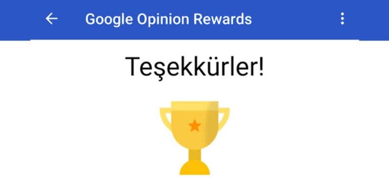 Google Ödüllü Anketler Uygulaması