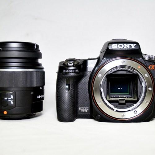 ソニーのデジタル一眼レフカメラ「α55」買取実績