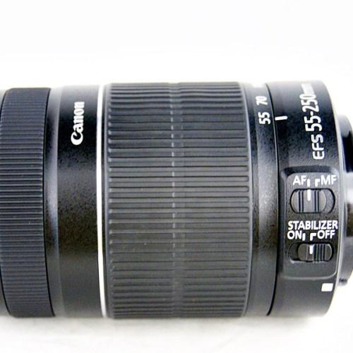 キャノンのカメラレンズ「EF-S 55-250mm F4-5.6 IS Ⅱ」買取実績