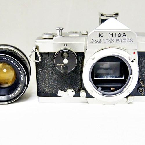 コニカのフィルム一眼カメラ「AUTOREX HEXANON 52mm F1.8」買取実績
