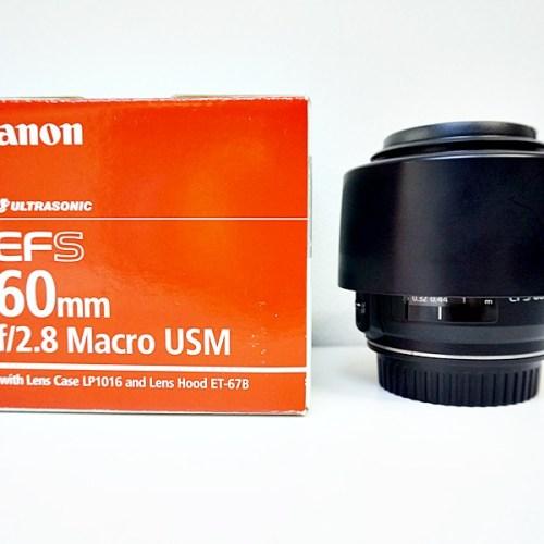 キャノンのカメラレンズ「EF-S60mm F2.8 MACRO USM」買取実績