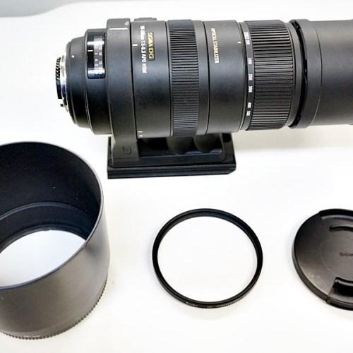 シグマのカメラレンズ「 150-500mm F5.6-6.3 APO DG OS HSM」買取実績