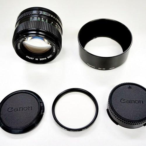 キャノンのカメラレンズ「FD 50mm F1.4」買取実績