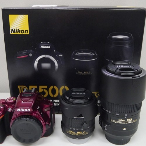 ニコンのデジタル一眼レフカメラ「D5500 ダブルズームキット」買取実績