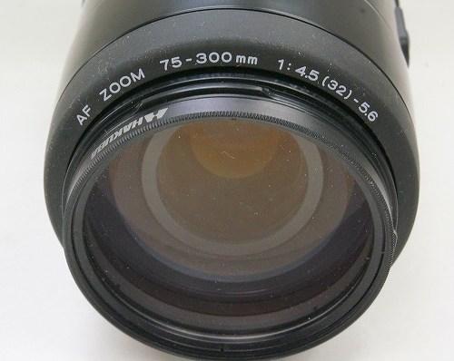 ミノルタのレンズ「AF ZOOM 75-300mm F4.5-5.6」買取実績