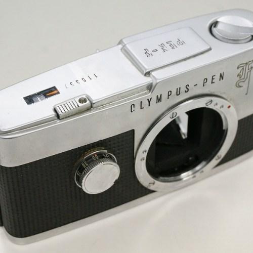 オリンパスのフィルム一眼レフカメラ「PEN-F ボディ」買取実績