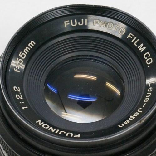 フジフィルムのレンズ「FUJINON 55mm F2.2」買取実績