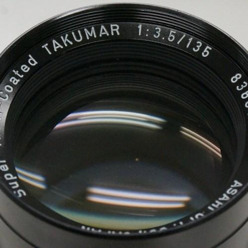 ペンタックスのレンズ「SMC TAKUMAR 135mm F3.5 M42」買取実績