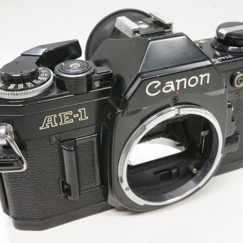 キャノンのフィルム一眼レフカメラ「AE-1 ボディ ブラック」買取実績