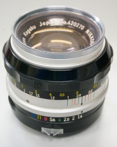 ニコンのレンズ「NIKKOR-S Auto 50mm F1.4 」買取実績