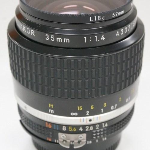ニコンのレンズ「Ai-S NIKKOR 35mm F1.4」買取実績