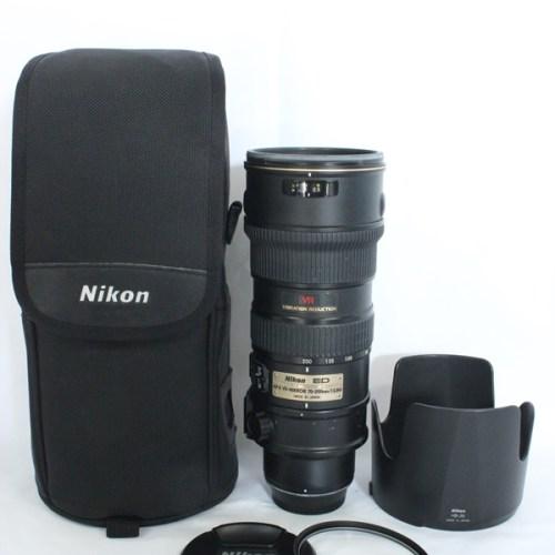 カメラ買取実績紹介「Nikon ニコン AF-S VR-Nikkor 70-200mm F2.8G ED 」