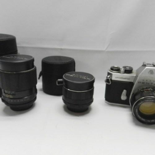 カメラ買取実績紹介「ASAHI PENTAX ペンタックス SPOTMATIC SP II Super-Takumar 24mm 55mm 135mm」