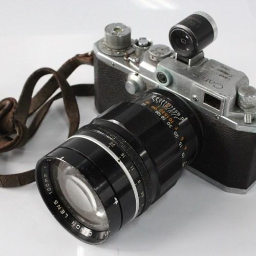 カメラ買取実績紹介「Canon キャノン レンジファインダー + 100mm F2 Lマウント + 100mm ビューファインダ」